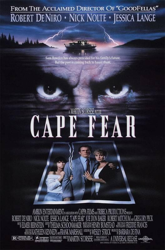 Постер к триллеру Мыс страха (1991) - смотреть триллер с участием Робертом Де Ниро онлайн